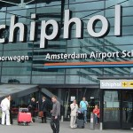 The sign to Schiphol Airport in Amsterdam