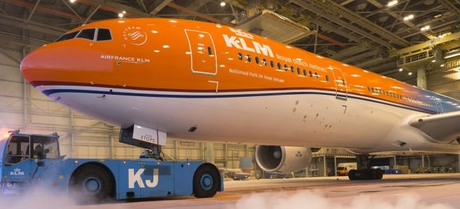 Making of video over KLM's unieke oranje vliegtuig