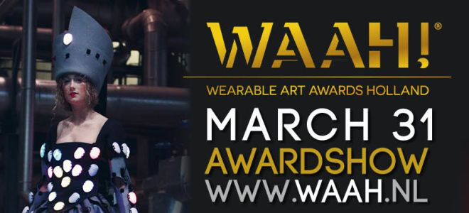Valerio Zeno presenteert de Wearable Art Awards Holland in Alkmaar